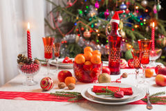 Table for Christmas Eve Stock Image