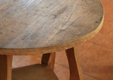 Table circle furniture Royalty Free Stock Photography