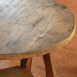 Table circle furniture Royalty Free Stock Photos