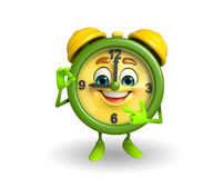Table clock character with best sign Royalty Free Stock Photos