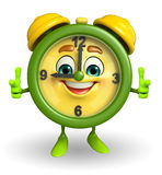 Table clock character with best sign Stock Images