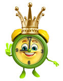 Table clock character with crown Stock Images