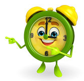 Table clock character is pointing Stock Photography