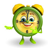 Table clock character is presenting Stock Photo
