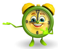 Table clock character is presenting Stock Images
