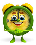 Table clock character with promise pose Royalty Free Stock Photography