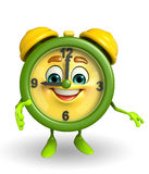 Table clock character with shake hands pose Stock Photography