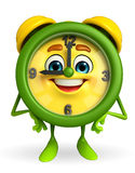 Table clock character is standing Royalty Free Stock Photos