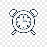 Table clock concept vector linear icon isolated on transparent b royalty free illustration