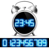 Table clock with digital display Stock Images