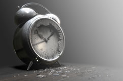Table Clock Time Run Out Stock Image
