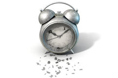 Table Clock Time Running Out stock illustration