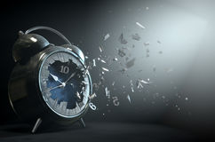 Table Clock Time Smashing Out Royalty Free Stock Photography