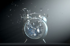 Table Clock Time Smashing Out Stock Image