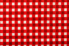 Table Cloth. Close-up Of A Checked Table Cloth Stock Photo