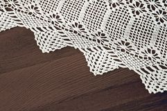 Table cloth. Handmade knit lace Stock Image
