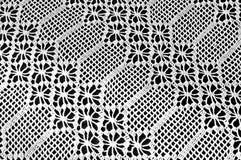 Table cloth. Handmade knit lace Royalty Free Stock Photos