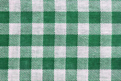 Table cloth. Green and white table cloth close up, for background use Stock Image