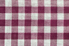 Table cloth. Red and white table cloth close up, for background use Royalty Free Stock Image