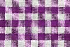 Table cloth. Violet and white table cloth close up, for background use Royalty Free Stock Photos