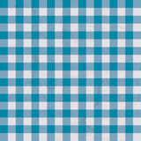 Table cloth blue. Checkered blue and white table cloth with repeat design Stock Image