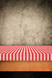 Table cloth, kitchen napkin on wooden background. Stock Images