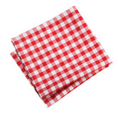 Table cloth kitchen red color isolated. Royalty Free Stock Photos