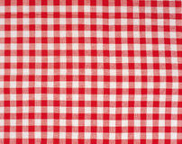 Table cloth pattern. Red white grid cloth pattern Royalty Free Stock Photography
