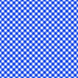 Table cloth seamless pattern blue Royalty Free Stock Photos