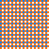 Table cloth seamless pattern orange and blue Stock Photography