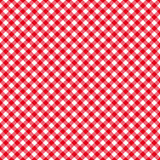 Table cloth seamless pattern red. Vector illustration Stock Photography