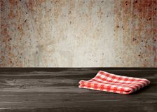 Table cloth on table Royalty Free Stock Photo