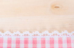Table cloth and white lace background. Royalty Free Stock Photography