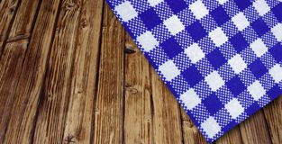 Table and cloth. Wooden table in perspective with cloth stock image