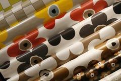 Table cloths - tarpaulin. Diagonal view on rows of tarpaulin table cloths Royalty Free Stock Photography