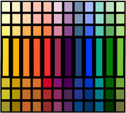 Table of color gradation. Image shows a color palette graduated Stock Illustration