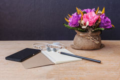 Table of composer, still life tone Stock Image