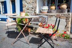 Table in Concarneau Stock Photos