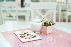 Table in confectionery Stock Images