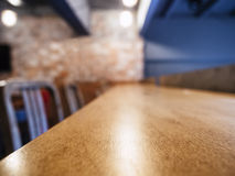 Table counter Seats Bar restaurant background Royalty Free Stock Photos