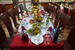 table couverte Photographie stock libre de droits