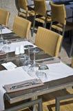 Table couverte Photos stock