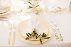 Table coverage decoration Stock Photography