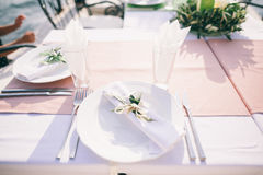 Table coverage decoration Royalty Free Stock Photo