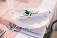 Table coverage decoration Royalty Free Stock Image
