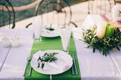 Table coverage decoration Stock Images