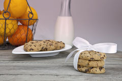 Table covered with biscuits Royalty Free Stock Images