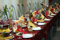 The table covered by a holiday Royalty Free Stock Photo