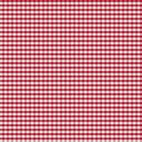 Table covered by red checkered tablecloth or Royalty Free Stock Photo