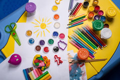Table for creativity Royalty Free Stock Images